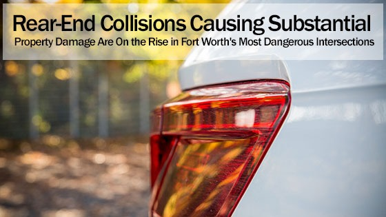Rear-End Collisions Causing Substantial Property Damage Are On the Rise