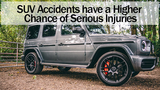 SUV Accidents have a Higher Chance of Serious Injuries