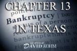 Dallas TX chapter 13 bankruptcy lawyer