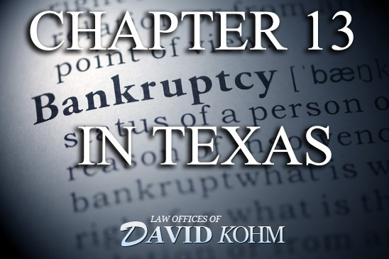 Chapter 13 bankruptcy lawyer in Texas