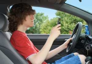 Teen Driver Distracted by Texts